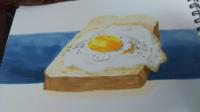 食パン/イラスト/評価/アドバイス この食パンをもっとおいしく 描くにはどうしたら良いのでしょうか? アドバイスや指摘下さる方お願い致します。
