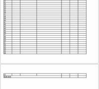 エクセルです パソコンで作った表をスマホにPDFとして送りました。 そうしたら、写真のように2枚作りになってしまいました。 一枚に収めるにはどうしたらいいですか?