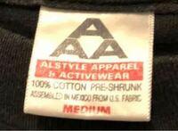 古着屋で購入したバンドtシャツが alstyleタグのなのですが このタグは何年頃から何年まで 使われているタグですか?  ©️は1999年です。  alstyleタグの年代判別方法教えてください。  ヴィンテージ ヴィンテージtシャツ alstyle 古着 バンドtシャツ バンt AAA 90s 00s 90年代 当時物