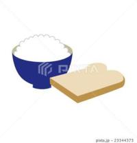 【大喜利】 朝ご飯に、「ご飯」と「トースト」が一緒に出ました。 他には・・・なし。(@_@) じゃあ、どっちを「おかず」にする?  [例] ご飯を、おかずに。 トーストの上に乗せて食べる・・・。(-_-;)