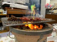 家で焼肉をしていたら炎が緑になりました、どうしてでしょうか? 網も七輪もずっと使っている物でいつもと変わった事と言えば炭をWeberのブリケットというものにした位です