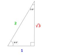 直角三角形の3辺の比について、1:2:√3とありますが2と√3の位置がごっちゃになります。なぜこのようになるのか論理的に(2は1の2倍だから、とかではなく)教えてください。