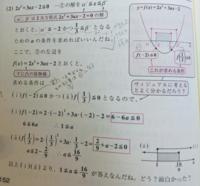 2次不等式の解が-2 ≦ x ≦ 3/1を含むようなaの値の範囲を求めよ。という問題の説明なのですが なぜ、x=-2はf(-2)に、x=3/1はf(3/1)になるのですか?