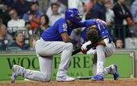 打球が少女直撃。カブスのアルモラ外野手は憔悴しきってますか?