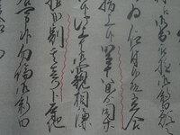 古文書の解読お願いします。武蔵野新田開発に関する古文書ですが、波線の文字が読めません。解読をお願いします。