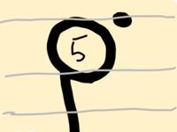 ウクレレのタブ譜について。 このような音符の右上に丸がついている場合はどのように弾くのですか?  丸がついていない時との違いを教えてください!