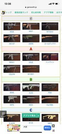 荒野行動です。 ゴールデンクマとKarとM1891はすごく形が似ていますが、どれも大体同じ頻度で落ちていますか?また、狙撃銃の中でいちばん強いのは、このランク通り、やはりゴールデンクマなんですか?