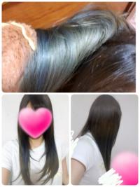 今日美容院でハイライトの入った髪の上からバレイヤージュをして欲しいとお願いしてバレイヤージュ風にブリーチ+グレージュの色を入れてもらったのですが、一部の髪が青くなりました。 美容師さんには元々のハイ...