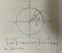 三角関数の解説のこの意味が理解できないのですが、解説お願いします。
