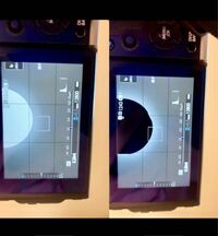 FUJIFILM X-T3についてです。 先日からカメラを使用中に画像のような黒い表示が現れるようになりました。 明るさが大きい場所にのみ点滅して現れるようです。 シャッターボタン半押しなどはしていません。 半押し...