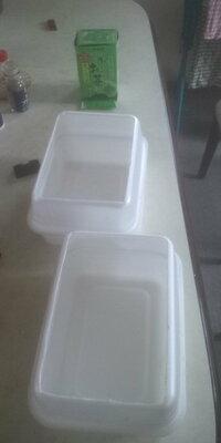 カップ焼きそばの空き容器を使って植木鉢を作りました! 材料は  ①カップ焼きそばの容器(ペヤングソース焼きそば超大盛)2個 ②ホチキスで接合面を数ヶ所止める ③上部面をカッターなどでカットし、底面に穴を...