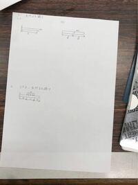 機械工学科 材料力学 はりのせん断力、曲げモーメント s.f.d . b.m.d を描けと言う問題です。 お助け願いたいです。
