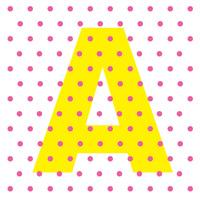 イラストレーターでオブジェクトが重なる部分の選択   画像のようなIllustrator(CC)で作成したデータで、黄色の「A」に重なるピンクのドットだけを選択する方法ってあるでしょうか?