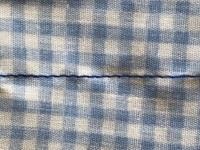 ミシンについてです。 この縫い目は正常範囲でしょうか? 表裏ともこんな感じなのでどちらの糸が強いとか弱いとかわかりません。