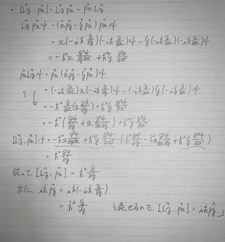 子 運動量 演算