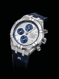 時計好きの方、仕事やプライベートでモーリスラクロアの 時計:AI6038-SS001-131-1 を見かけたらどんな印象を受けますか? まぁまぁ良い時計してるなとか思いますか? 自動巻きで44mmです。