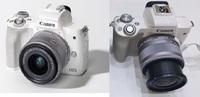 Canon Kiss M のレンズについて  標準レンズと望遠レンズがついたキットを購入し、標準を使用しています。 よく画像で見かけるKiss M と比べ、自身のレンズは長いのですが、何故でしょうか? (左がCanon HPなどに載っているもの、右が自分のもの)  一番短くした状態でも左のようになりません・・・ 何か方法があり、先端部を仕舞えるのでしょうか? よろしくお願いいた...