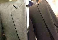 スーツのディテール、ステッチてなんの事ですか?また画像左のように縫い目が見えてる物は安物に見えるのですが気のせいですか?
