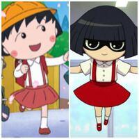 【ちびまる子ちゃん 妖怪ウォッチ】 「まる子」と「花子さん」は服のデザインやカラーリング・髪型など似てる箇所がいくつかあります  そこで思ったのですが、「まるちゃん」は花子さんをモデルに作成されたのでしょうか? それとも偶然?