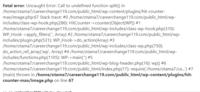 ワードプレスで突然、サイト表示ができなくなりました。 ちなみにサーバーはエックスサーバーです。  すべてのページが表示できず、以下のコメントが表示されます。 長文で英語なので理解ができません。 お助...