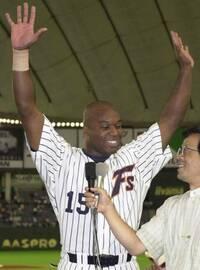 元日本ハムのウィルソン選手は指名打者専門の登録は外野手登録でした ...