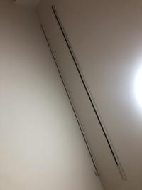 自宅マンションの天井にレールが2本付いているんですけど何に使うのでしょう?1つはレールのみで、もう1つはフックの様なものがレールに4こついています、、、