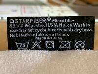 ブラーバ 390j クロスの洗濯方法 ブラーバ 390jに付属のクロスの洗濯方法を教えてください。 タグがついていますが、英語と洗濯表示の意味が分かりません。  説明書にも洗濯方法の詳しい記載は見当たりませんでした。