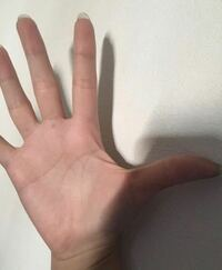 (手相見れる方いますか?) 占ってください! 右手です! 手相です! 中指の下にホクロあります。 その意味もお願いします。 合わせて左手もあるのでお願いします。 質問欄へ