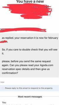 agodaでボリビアのホテルを予約(返金変更不可)しましたが日付を間違えてしまいました。 ダメ元で翌日に変更してもらえないかメールしたところ、すでに日付変更しましたと返信が来ました。その数時間後に再度メ...