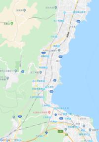 国道161号線の125cc走行できるルートを教えてください。 走行できないルートはどこを使えばいいか、地図上に線を引いて教えてください。 区間は追分から477号線までです。