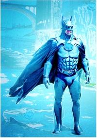 筋骨隆々とした筋骨たくましい筋肉質の男らしい強靱な肉体を持つバットマンの肉体の中で、急所はどこでしょう??