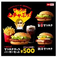マクドナルド 「今だけテリヤキバーガー500円」っていうのはノーマルのテリヤキバーガーだけですよね? 旨辛てりやきのセットは通常価格ですよね?