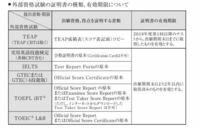 青山学院の総合文化政策のb方式を受けたいのですが、英検二級を2017年度の3回目に合格して、資格認定日は2月23で、試験を受けた日だと期間外になってしまうのですがこの場合でも受けられますか?
