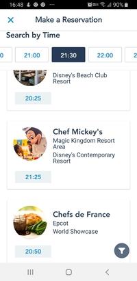 オーランドのウォルト・ディズニー・ワールドについて  来年の2月上旬から中旬にかけてウォルト・ディズニー・ワールドに行く計画をしています。 そこで、むこうのシェフミッキーを予約しよ うと思ったのです...