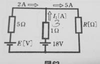 この回路の起電力E、抵抗Rの求め方を詳しく教えてくださいお願いします