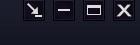 一番左の矢印は何ですか? マウスを当てても、説明が出ません。  オンラインゲームブラウザ画面です。 試しにクリックしたら、タスクバーから画面は消えました。 ※ログアウトにはならない。 ※どこ探しても、消えた画面が見当たらない。 ※リログしたら(ログアウトしました。)と出る。