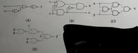 ディジタル回路についてです。 写真の回路より、出力関数を求めました。 あってますか?  解答: (a) x1 ・ /x2  (b) /x ・y + /y ・x  (c) x・/x・/y ・y ・/x ・/y (d) /A + /B +C+D+E+/F  多分間違えて...