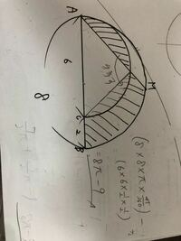 答えは4π−1なのですが、どうしてこの解き方だと解けないのですか?