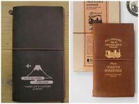 トラベラーズノートの購入を検討しているのですが、皆さんはどちらが好きですか? 左が成田空港限定、右が東京駅限定     トラベラーズファクトリー 旅行 日記
