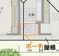 3方壁に囲まれ、屋根のある玄関ポーチは床面積に入りますか?