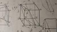 立方体があり、平面CMKLによって二つの物体に分けられるとき、小さい方の立体の体積を求めなさいという問題で、高さはdm=3,ak=6,bl=3,(c=0)だから平均を取って3cmなので8×8×3=192立法cmと教わ ったのですが、この方法は正しいのですか?また、平均を取る方法は頂点が同一平面上にあればなんでも使えますか?