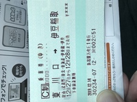 途中下車について  東川口駅から伊豆稲取駅までの往復乗車券を購入しました。  券面に「下車前途無効」と書かれています。 この場合、途中下車できますか?  営業キロは180kmなので、100 kmを超えているのですが、なぜか下車前途無効と書かれています。