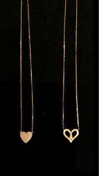 ハートのネックレス、どちらが可愛いと思いますか?