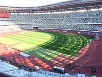 オリンピックで建設中の新国立競技場、これ選手見えにくいんじゃないでしょうか?サッカーって芝に模様つけてますよね?