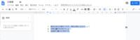 Googleドキュメントの設定について質問です。  ドキュメントを利用して入力をすると、途中からカーソルの位置が表示されるべき本来の位置からずれてしまいます。 添付画像では、全選択しているのですが、選択範...