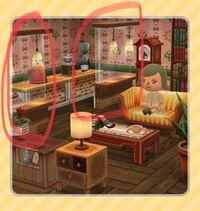ポケ森について、 ロード画面の画像にあるこのライトの付いた家具はどうやって手に入りますか?過去イベなのかクッキーなのか動物のお願いなのか教えてください!
