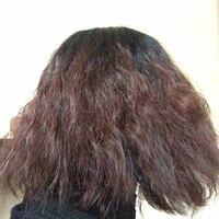 髪がとても傷んでいます。縮毛矯正をかけるべきですか?(画像あり) 髪がパサパサで根元からクセが凄くてまとまらないので、縮毛矯正をかけようと思っています。 自分でアイロンで真っ直ぐにしようとすると1時間以...