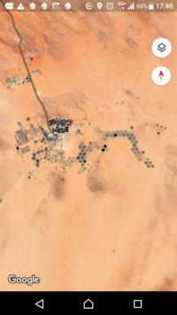 航空写真を見てたら、砂漠の真ん中(リビア)で明らかに人工物の円を多数発見しました。 これは何をするものですか? 最初は畑?かと思いましたが、高温で乾燥した砂漠で農業は考えにくいです。
