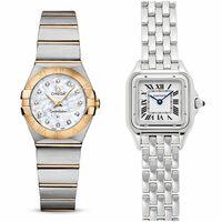 カルティエのパンテールSMか、オメガのコンステレーション24mm(イエローゴールドコンビ、シェル文字盤、ダイヤモンド)のどちらを購入するか迷っています。 選ぶとしたらどちらの腕時計が良いと 思いますか? パンテールは店頭でつけてみましたが、コンステレーションは24mmが店頭在庫がなく、25mmのイエローゴールドコンビ、白文字盤、ダイヤモンド無しのを着けてみました。 どちらも素敵でした。...