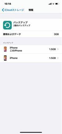IPhone7からIPhone11へデータを移行しました。 そこで質問です。写真のように7のバックアップデータが1.5Gとなっているのですが、消去したらどうなりますか?